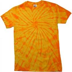 Kleidung Kinder T-Shirts Colortone Spider Spinne Goldfarben