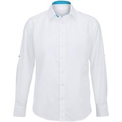Kleidung Herren Langärmelige Hemden Alexandra Hospitality Weiß/Pfau