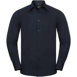 Kleidung Herren Langärmelige Hemden Russell 924M Marineblau