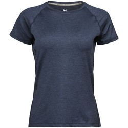 Kleidung Damen T-Shirts Tee Jays Cool Dry Marineblau meliert