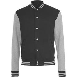 Kleidung Damen Jacken Build Your Brand BY027 Schwarz/Grau meliert