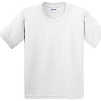 Kleidung Kinder T-Shirts Gildan 5000B Weiß