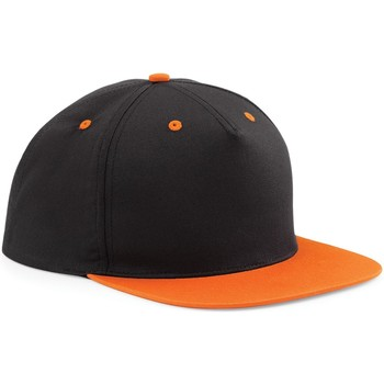 Accessoires Schirmmütze Beechfield B610C Schwarz/Orange