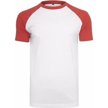 Kleidung Herren T-Shirts Build Your Brand BY007 Weiß/Rot