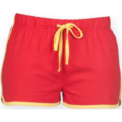 Kleidung Damen Shorts / Bermudas Skinni Fit SK069 Rot/Gelb