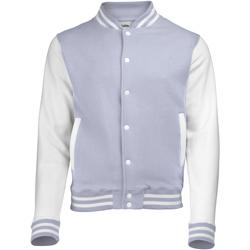 Kleidung Herren Jacken Awdis JH043 Grau meliert/Weiß