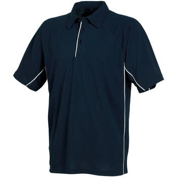Kleidung Herren Polohemden Tombo Teamsport TL065 Marineblau/Marineblau/Weiß