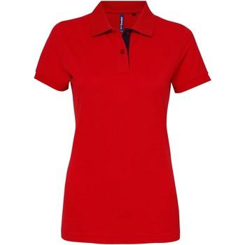 Kleidung Damen Polohemden Asquith & Fox Contrast Rot/Marineblau