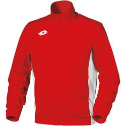 Kleidung Kinder Trainingsjacken Lotto Delta Feuerrot/Weiß