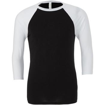 Kleidung Herren Langarmshirts Bella + Canvas CA3200 Schwarz/Weiß