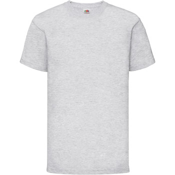 Kleidung Kinder T-Shirts Fruit Of The Loom 61033 Grau meliert