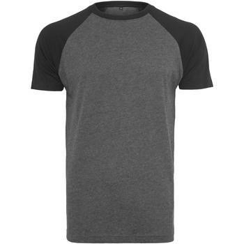 Kleidung Herren T-Shirts Build Your Brand BY007 Graphit/Schwarz