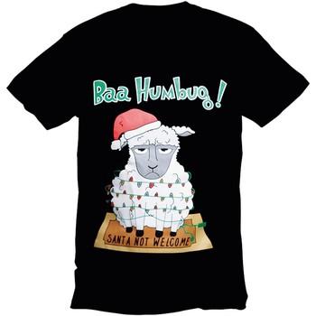 Kleidung Herren T-Shirts Christmas Shop 178642 Schwarz Bah Humbug