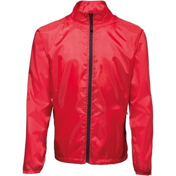 Kleidung Herren Windjacken 2786  Rot/Schwarz