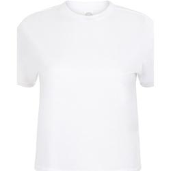 Kleidung Damen T-Shirts Skinni Fit Cropped Boxy Weiß