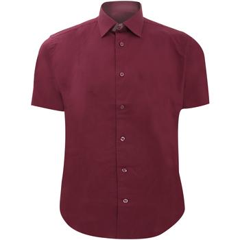 Kleidung Herren Kurzärmelige Hemden Russell 947M Burgunder