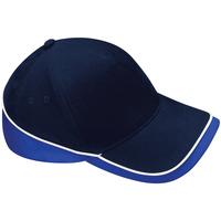 Accessoires Schirmmütze Beechfield B171 Dunkelblau/Blau/Weiß