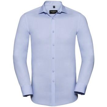 Kleidung Herren Langärmelige Hemden Russell 960M Blau
