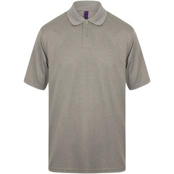 Kleidung Herren Polohemden Henbury HB475 Heather Grau