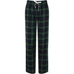 Kleidung Damen Pyjamas/ Nachthemden Skinni Fit Tartan Grün