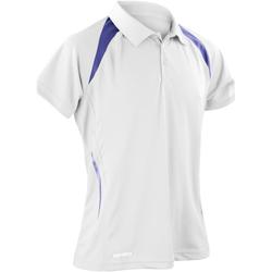 Kleidung Herren Polohemden Spiro S177M Weiß/Marineblau