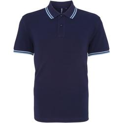 Kleidung Herren Polohemden Asquith & Fox AQ011 Marineblau/Kornblume