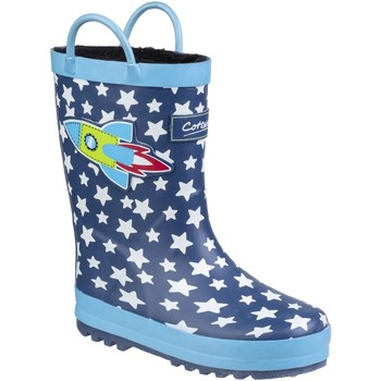Schuhe Kinder Gummistiefel Cotswold Sprinkle Blau Rakete