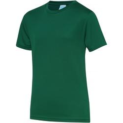 Kleidung Kinder T-Shirts Awdis JC01J Flaschengrün