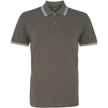 Kleidung Herren Polohemden Asquith & Fox AQ011 Anthrazit/Weiß