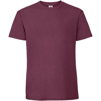 Kleidung Herren T-Shirts Fruit Of The Loom 61422 Burgunder
