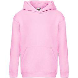 Kleidung Kinder Sweatshirts Fruit Of The Loom SS873 Rosa