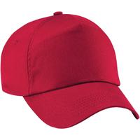 Accessoires Kinder Schirmmütze Beechfield B10B Klassik Rot