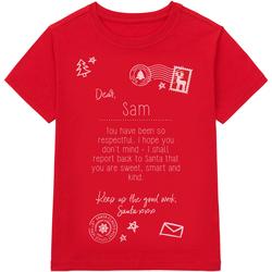 Kleidung Kinder T-Shirts Christmas Shop CS145 Rot