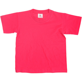 Kleidung Kinder T-Shirts B And C TK300 Fuchsie