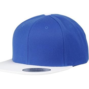 Accessoires Schirmmütze Yupoong YP010 Royal Blau/Weiß