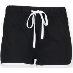 Kleidung Kinder Shorts / Bermudas Skinni Fit SM069 Schwarz/Weiß