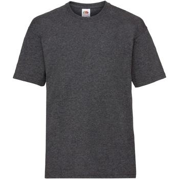 Kleidung Kinder T-Shirts Fruit Of The Loom 61033 Dunkelgrau meliert