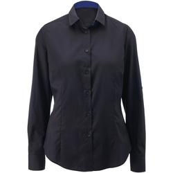 Kleidung Damen Hemden Alexandra AX060 Schwarz/Royal