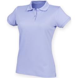 Kleidung Damen Polohemden Henbury Coolplus Lavendel