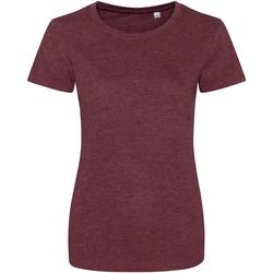 Kleidung Damen T-Shirts Awdis JT01F Burgunder meliert