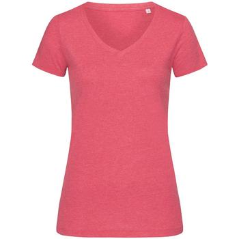 Kleidung Damen T-Shirts Stedman Stars  Kirschrot meliert