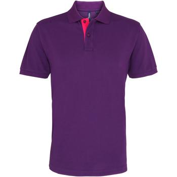 Kleidung Herren Polohemden Asquith & Fox AQ012 Violett/Pink
