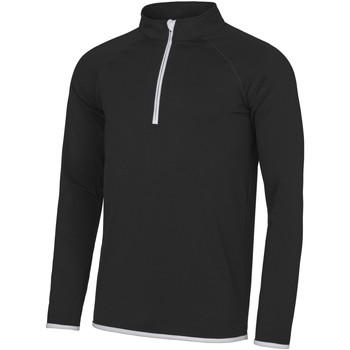 Kleidung Herren Sweatshirts Awdis JC031 Jet Schwarz/Arctic Weiß
