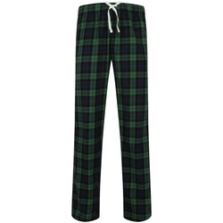 Kleidung Herren Pyjamas/ Nachthemden Skinni Fit SFM83 Navy/ Grün /Tartan