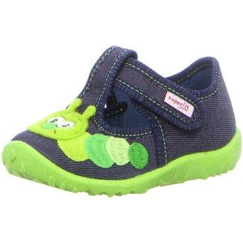 Schuhe Jungen Tennisschuhe Superfit Hausschuhe Hausschuhe SK \ SPOTTY 09256-80 blau