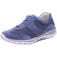 Schuhe Damen Sneaker Low Rollingsoft By Gabor Schnuerschuhe Komfort Schnürhalbschuh extra weit 66.966.26 blau
