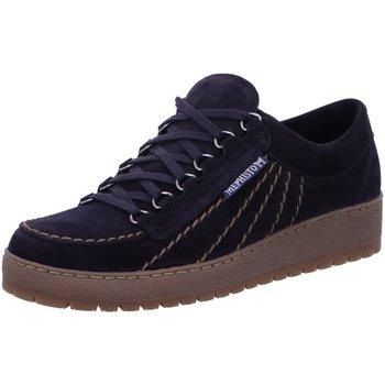 Schuhe Herren Sneaker Low Mephisto Schnuerschuhe RAINBOW Velou. 9855 blue P5125358 blau