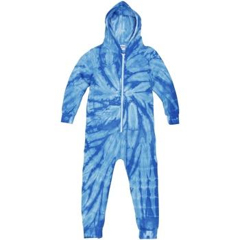 Kleidung Kinder Pyjamas/ Nachthemden Colortone Die Tye Spider Royal