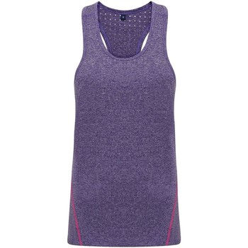 Kleidung Damen Tops Tridri TR041 Violett meliert