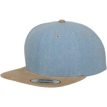 Accessoires Schirmmütze Yupoong YP009 Blau/Beige